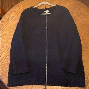 Umgee black soft tunic sweater
